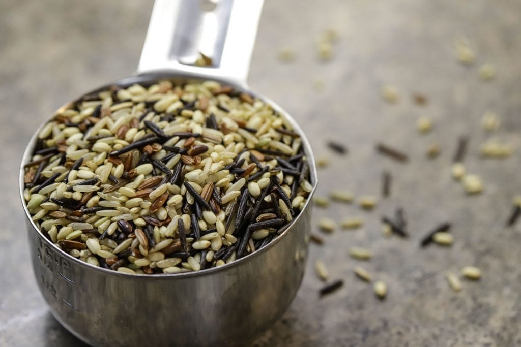 a blend of wild rice