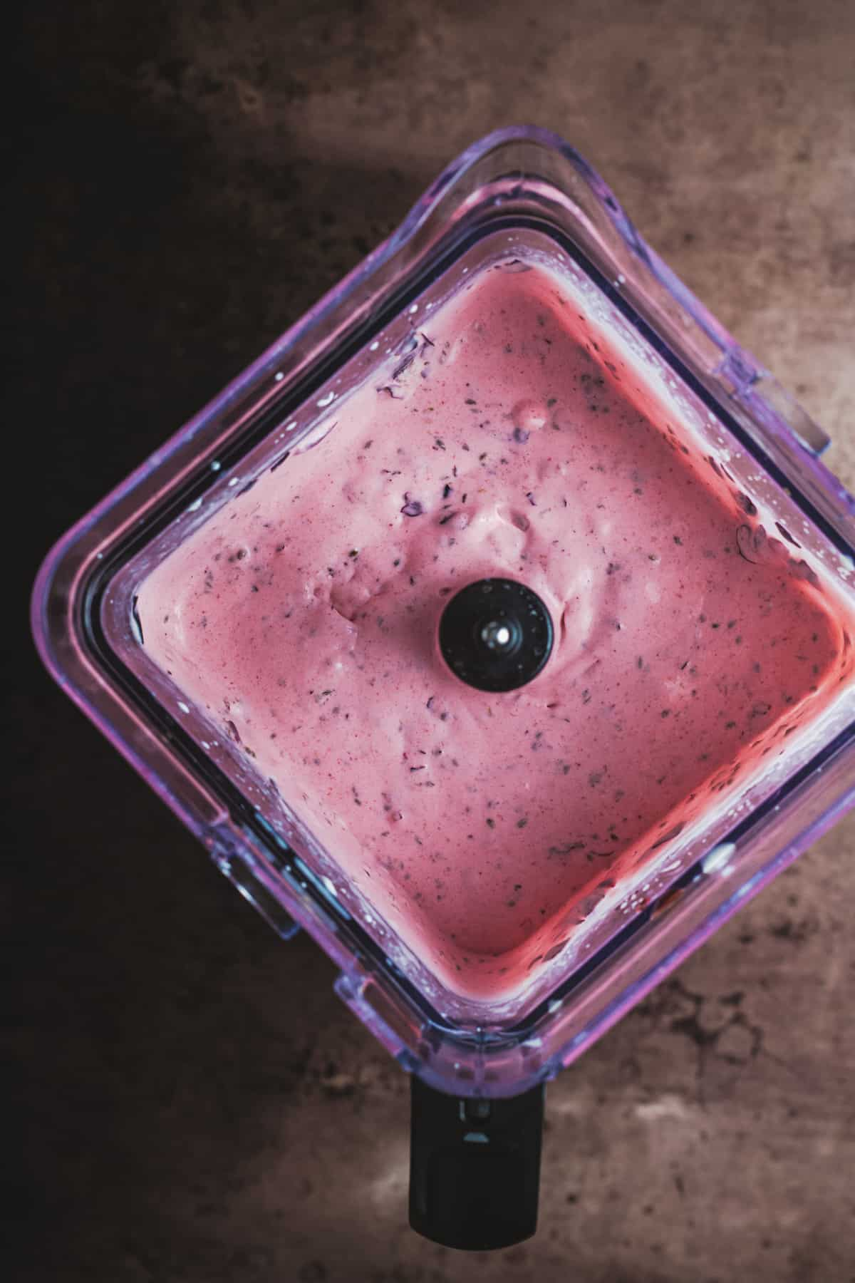 blackcurrants blended with milk